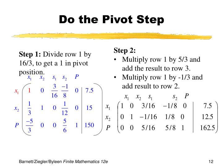 Do the Pivot Step
