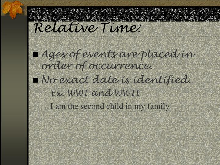 Relative time