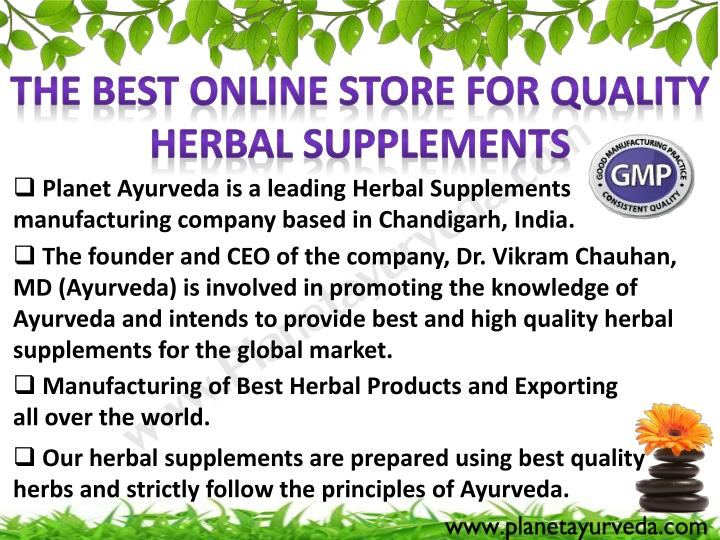 The Best online store for quality Herbal Supplements