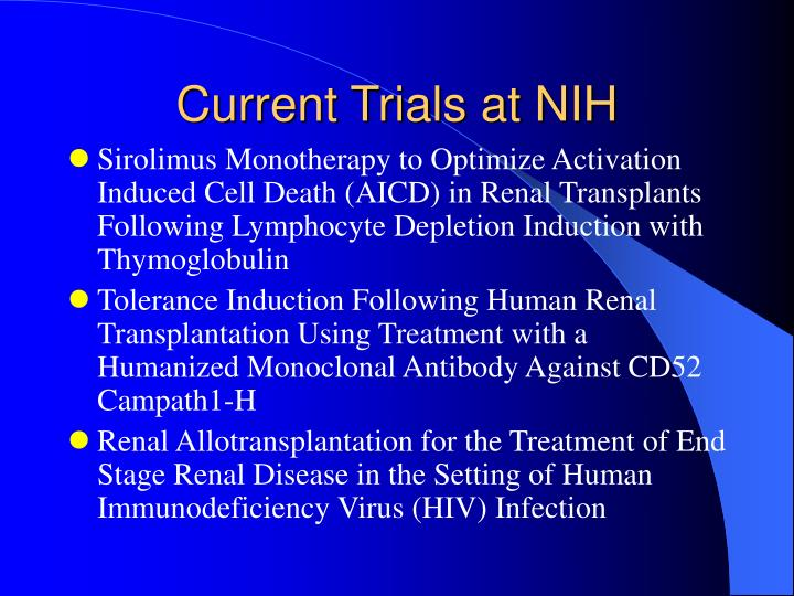 Current Trials at NIH