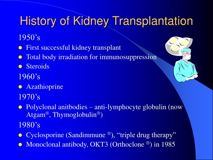 History of Kidney Transplantation