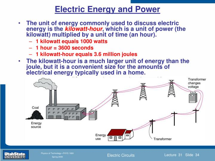Electric Energy and Power