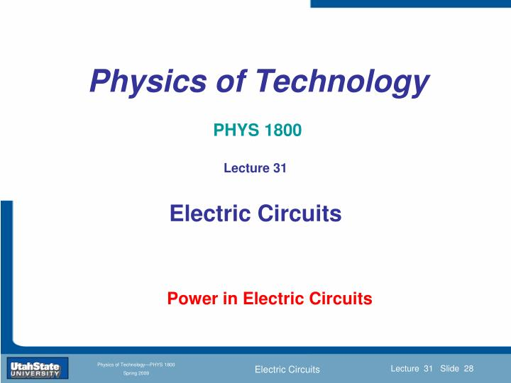 Physics of Technology