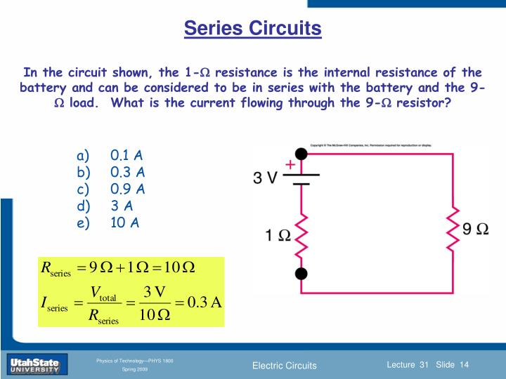 In the circuit shown, the 1-