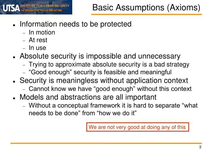 Basic Assumptions (Axioms)
