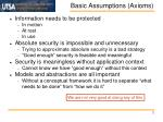basic assumptions axioms