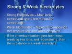 strong weak electrolytes