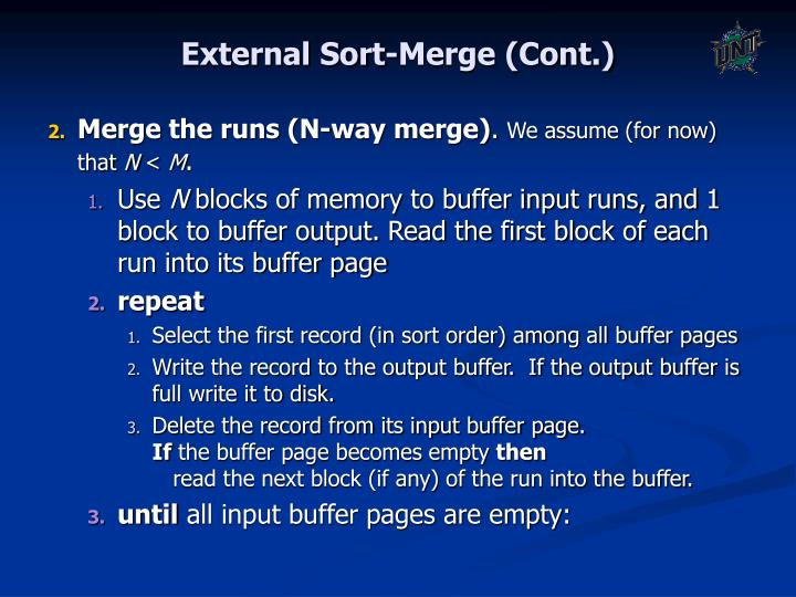 External Sort-Merge (Cont.)