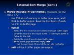 external sort merge cont