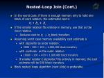 nested loop join cont
