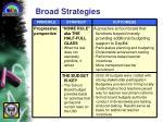 broad strategies
