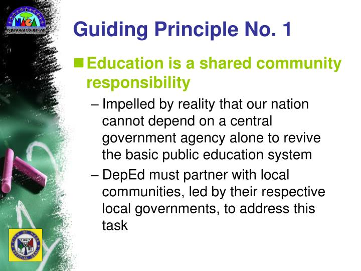 Guiding Principle No. 1