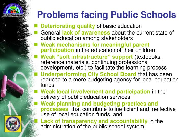 Problems facing Public Schools