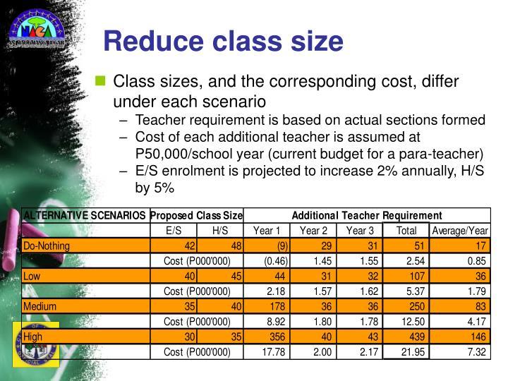 Reduce class size