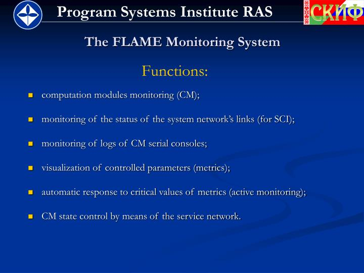 The flame monitoring system