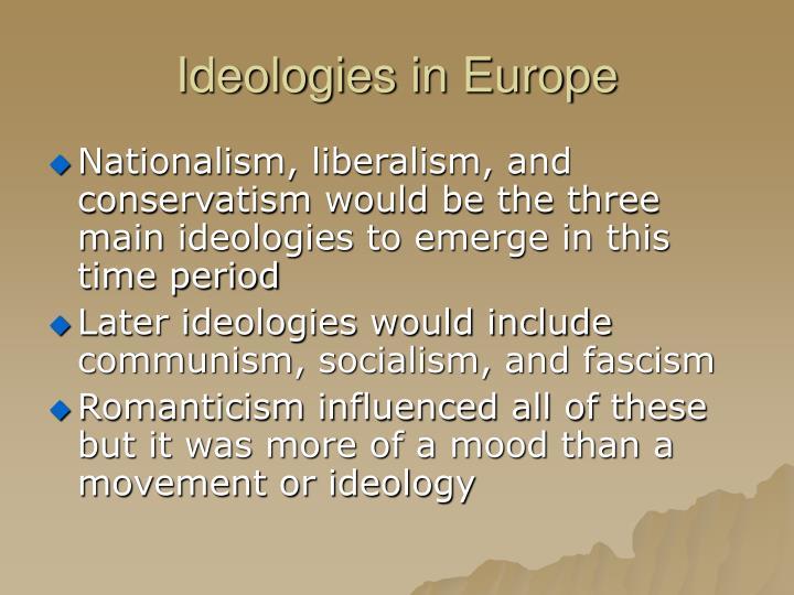 Ideologies in Europe