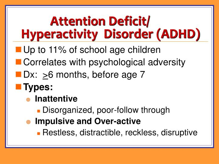 Attention Deficit/