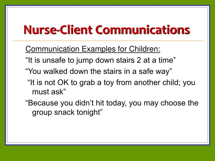 Nurse-Client Communications