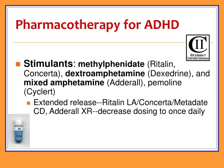 Pharmacotherapy for ADHD