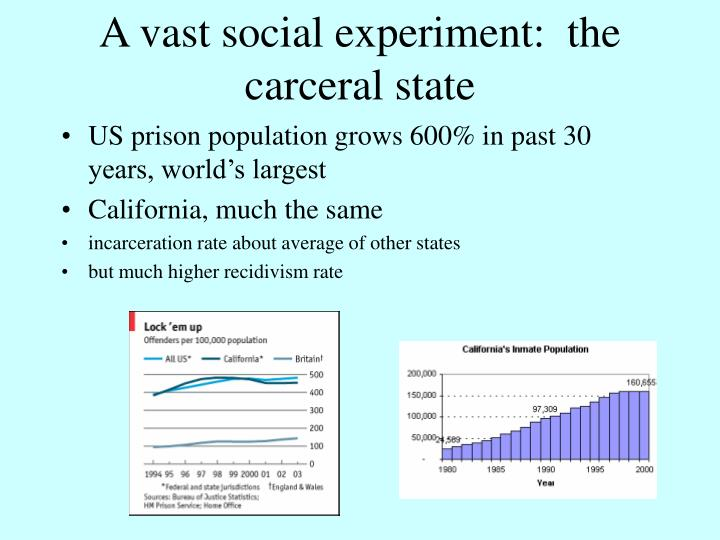 A vast social experiment:  the carceral state