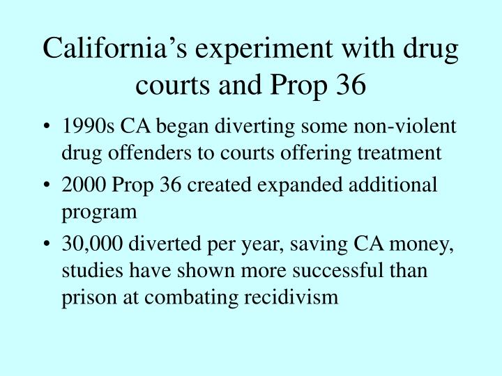 California's experiment with drug courts and Prop 36