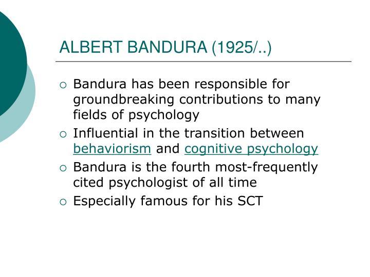 ALBERT BANDURA (1925/..)