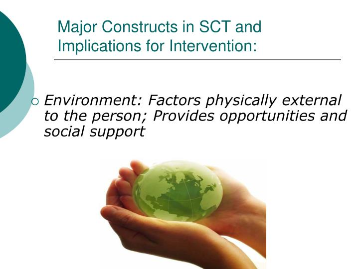 Major Constructs in SCT and Implications for Intervention: