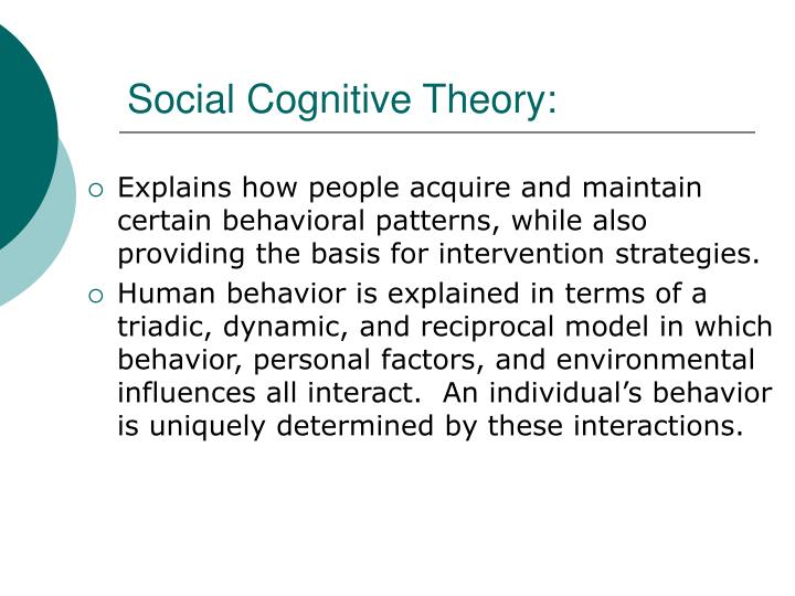 Social Cognitive Theory: