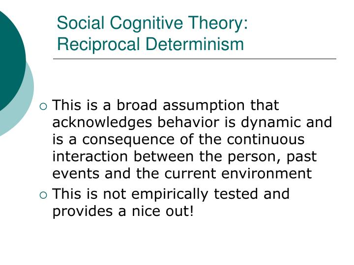 Social Cognitive Theory: Reciprocal Determinism