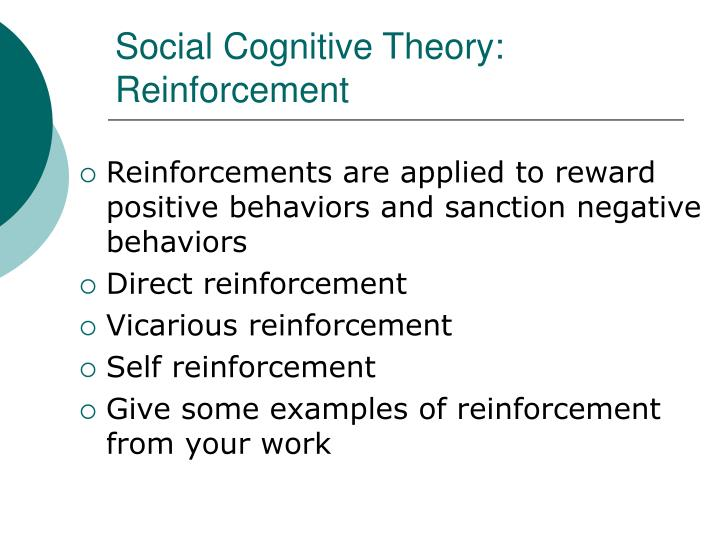 Social Cognitive Theory: Reinforcement