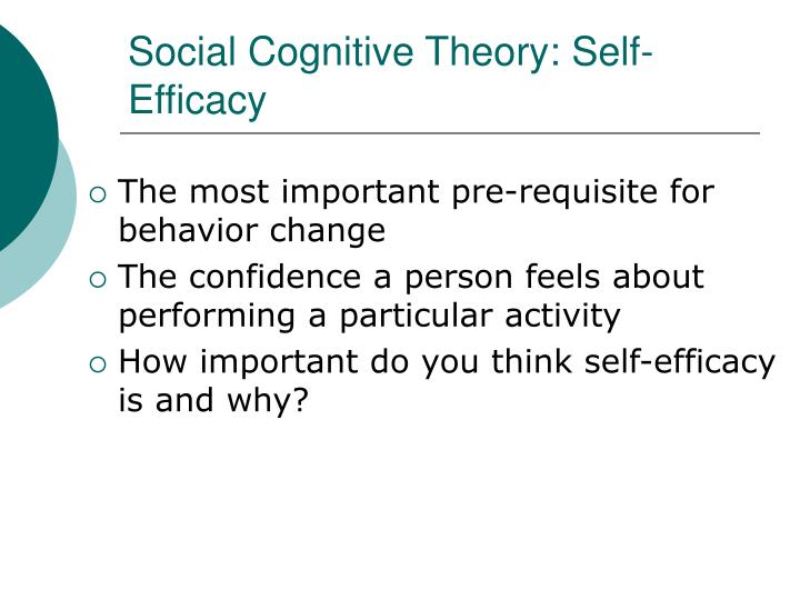 Social Cognitive Theory: Self-Efficacy