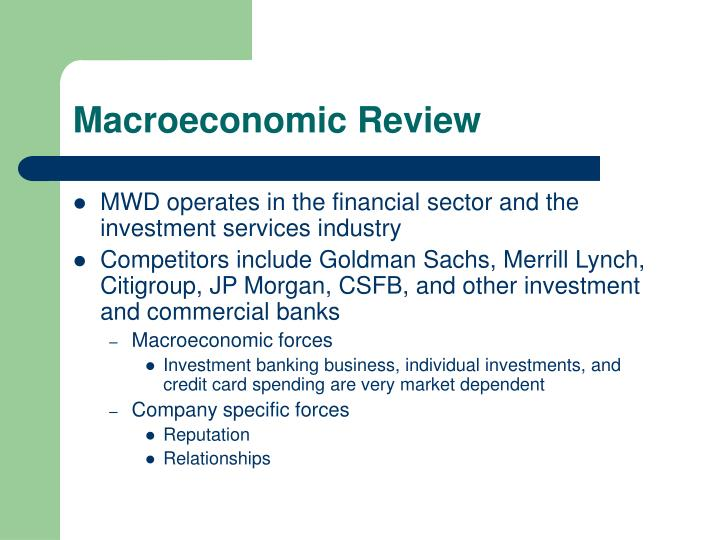 Macroeconomic Review