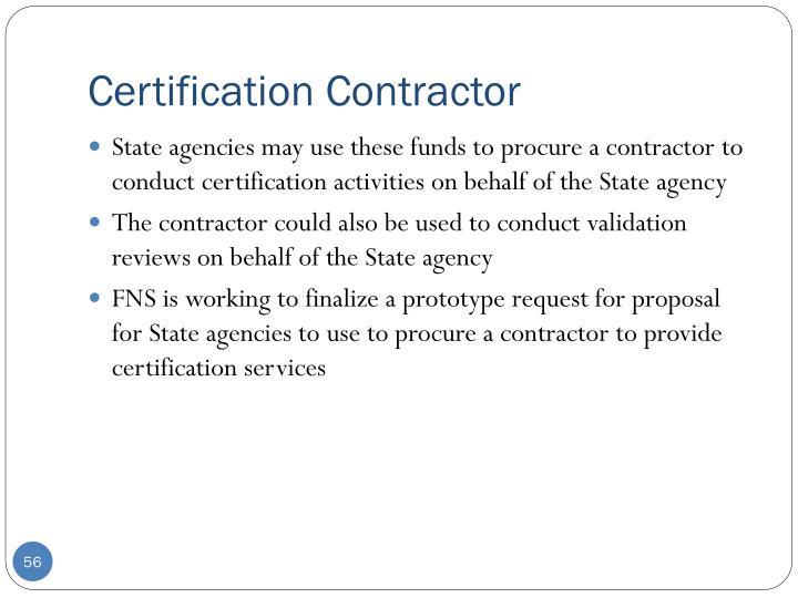 Certification Contractor