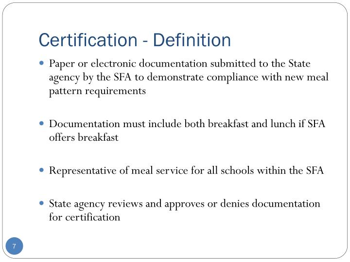 Certification - Definition