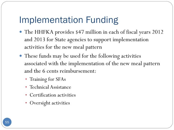 Implementation Funding