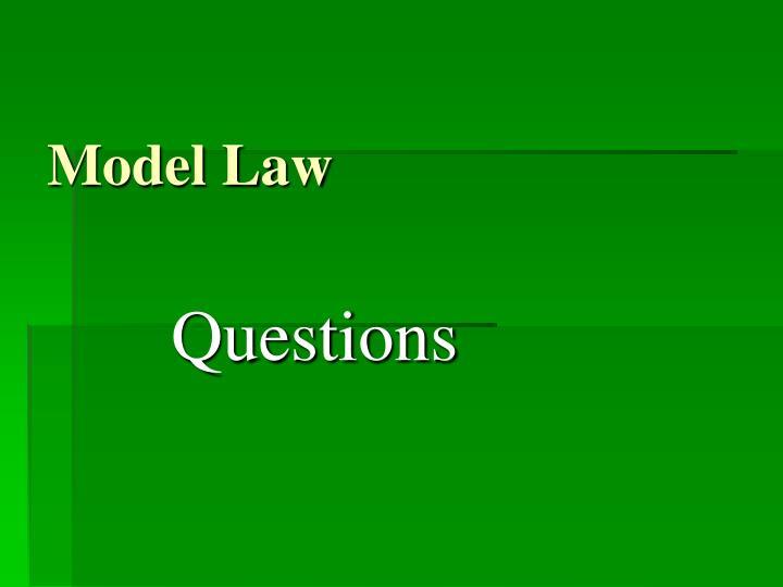 Model Law