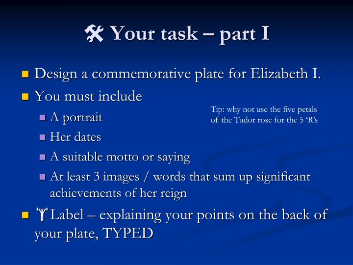  Your task – part I