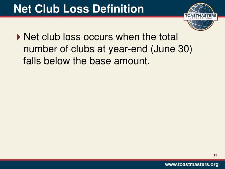 Net Club Loss Definition