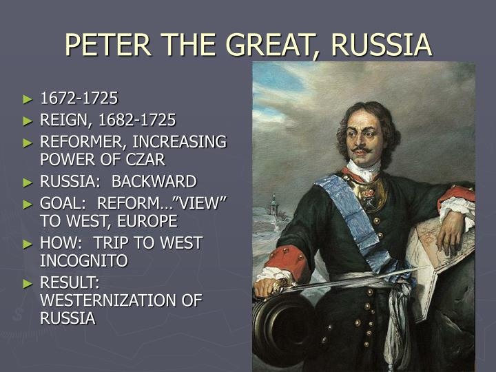a biography of peter the great czar of russia