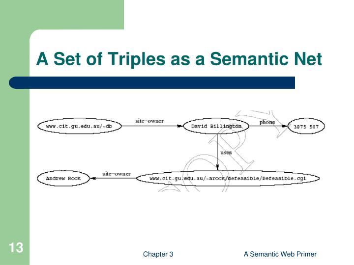A Set of Triples as a Semantic Net