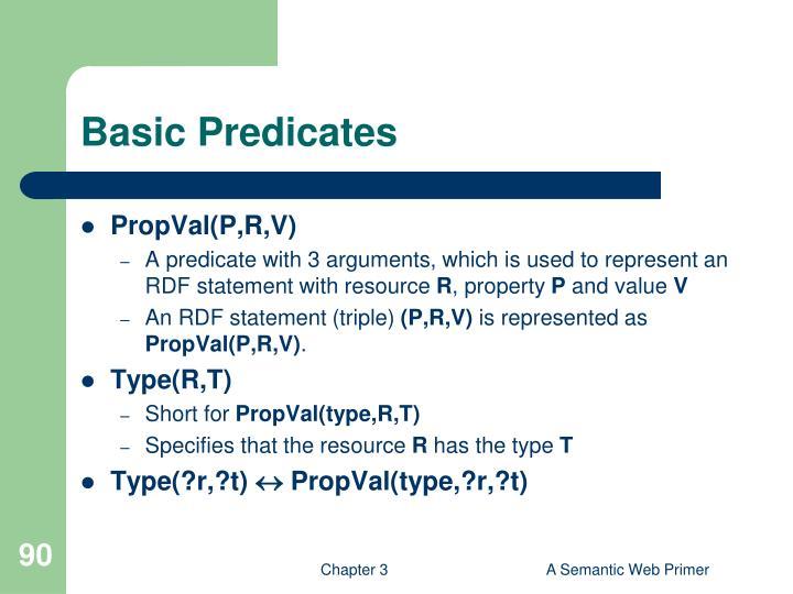 Basic Predicates