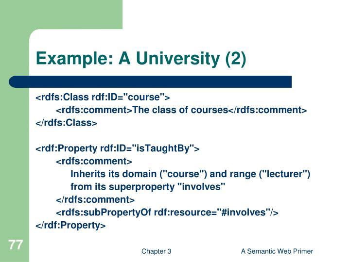 Example: A University (2)