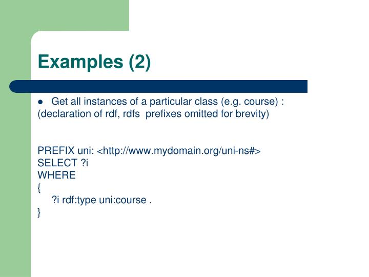 Examples (2)