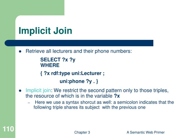 Implicit Join