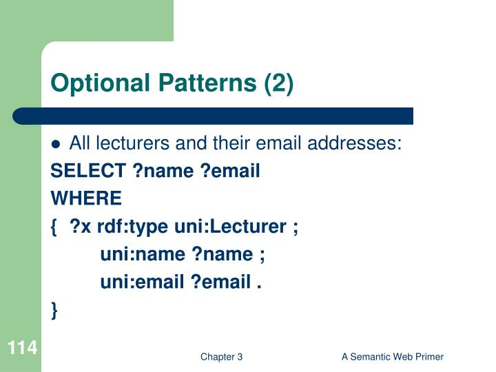 Optional Patterns (2)
