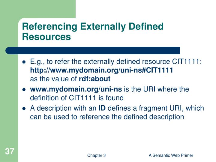Referencing Externally Defined Resources