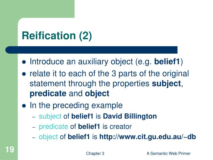 Reification (2)