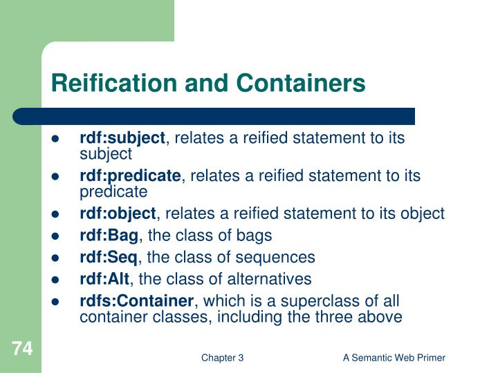 Reification and Containers