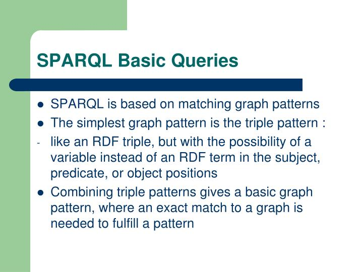 SPARQL Basic Queries