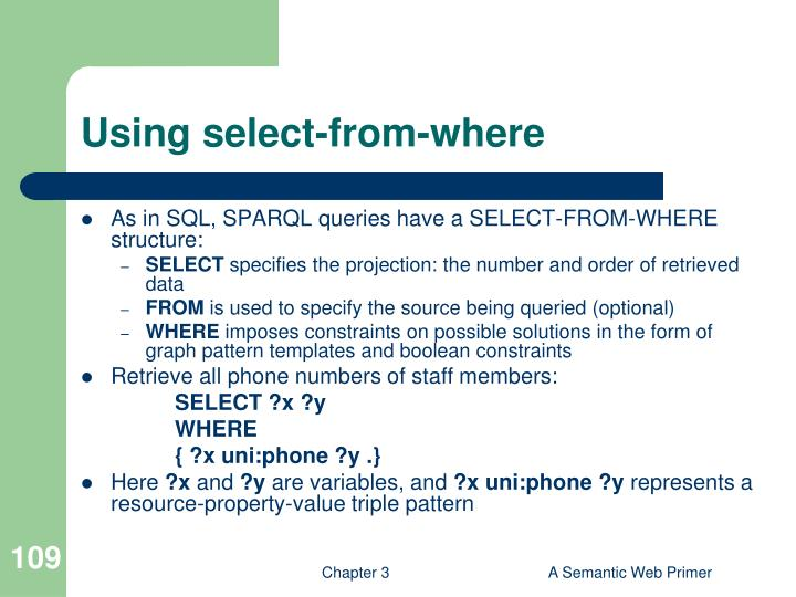 Using select-from-where